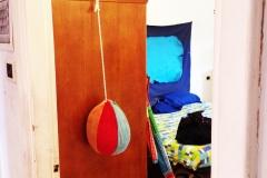 15)punching ball e camera da letto,veduta