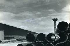43 Cisnal. Taranto. Veduta esterna  del Tubificio dell'italsider. 1970