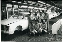 56 Fabrizio Ponzio. Pomigliano d'Arco. Stabilimento Alfa Romeo. Catena di montaggio modello Arna(Alfa Romeo-Nissan)