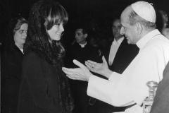 70 Pontificia Fotografia Felici. Papa Paolo VI e Claudia Cardinale