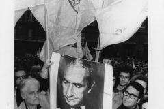 79 Ph. Attilio Cristini. Manifestazione di cordoglio per l'assassinio di Aldo Moro. Roma 10 maggio 1978