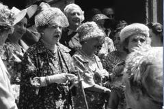 Aristocratiche al matrimonio Principessa Olimpia Torlonia Roma (1963)