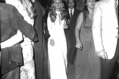 Patty Pravo con il giornalista Congiu alle maschere d'argentoItaly's News Photos di Guglielmo Coluzzi