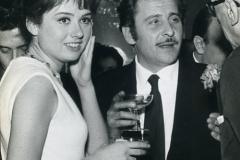 Gigliola Cinquetti e Domenico Modugno al 16 festival della canzone di Sanremo.Italy's News Photos di Guglielmo Coluzzi