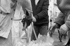 V. Biffani Christo The Wall, wrapped Roman Wall via Veneto & villa Borghese, Rome 26 gennaio 1974-11