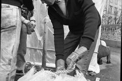 V. Biffani Christo The Wall, wrapped Roman Wall via Veneto & villa Borghese, Rome 26 gennaio 1974-14