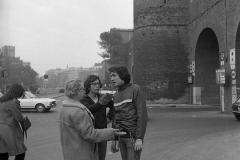V. Biffani Christo The Wall, wrapped Roman Wall via Veneto & villa Borghese, Rome 26 gennaio 1974-21jpg
