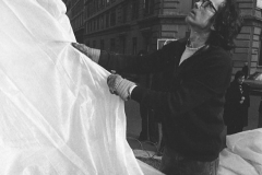 V. Biffani Christo The Wall, wrapped Roman Wall via Veneto & villa Borghese, Rome 26 gennaio 1974-31b