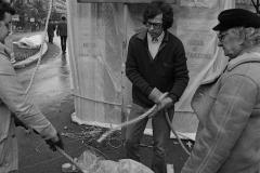 V. Biffani Christo The Wall, wrapped Roman Wall via Veneto & villa Borghese, Rome 26 gennaio 1974-9