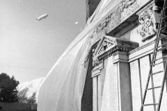 V. Biffani Christo The Wall, wrapped Roman Wall via Veneto & villa Borghese, Rome 27 gennaio 1974-39