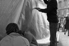 V. Biffani Christo The Wall, wrapped Roman Wall via Veneto & villa Borghese, Rome 27 gennaio 1974-40