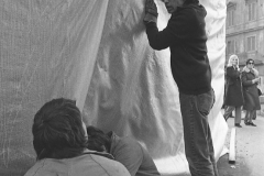 V. Biffani Christo The Wall, wrapped Roman Wall via Veneto & villa Borghese, Rome 27 gennaio 1974-41