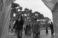 V. Biffani Christo The Wall, wrapped Roman Wall via Veneto & villa Borghese, Rome 27 gennaio 1974-51