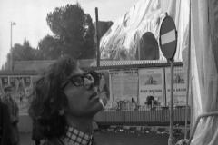V. Biffani Christo The Wall, wrapped Roman Wall via Veneto & villa Borghese, Rome 27 gennaio 1974-57