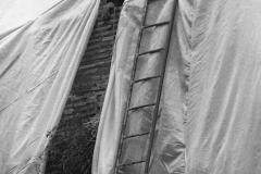 V. Biffani Christo The Wall, wrapped Roman Wall via Veneto & villa Borghese, Rome 28 gennaio 1974-61jpg