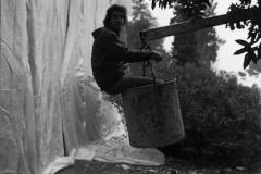 V. Biffani Christo The Wall, wrapped Roman Wall via Veneto & villa Borghese, Rome 28 gennaio 1974-64