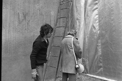 V. Biffani Christo The Wall, wrapped Roman Wall via Veneto & villa Borghese, Rome 28 gennaio 1974-73