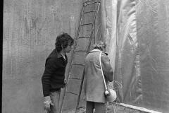 V. Biffani Christo The Wall, wrapped Roman Wall via Veneto & villa Borghese, Rome 28 gennaio 1974-73