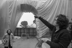 V. Biffani Christo The Wall, wrapped Roman Wall via Veneto & villa Borghese, Rome 28 gennaio 1974-76
