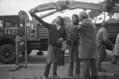 V. Biffani Christo The Wall, wrapped Roman Wall via Veneto & villa Borghese, Rome 28 gennaio 1974-79