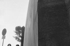 V. Biffani Christo The Wall, wrapped Roman Wall via Veneto & villa Borghese, Rome 28 gennaio 1974-85jpg
