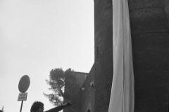 V. Biffani Christo The Wall, wrapped Roman Wall via Veneto & villa Borghese, Rome 28 gennaio 1974-86