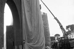 V. Biffani Christo The Wall, wrapped Roman Wall via Veneto & villa Borghese, Rome 28 gennaio 1974-88