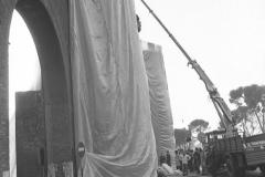 V. Biffani Christo The Wall, wrapped Roman Wall via Veneto & villa Borghese, Rome 28 gennaio 1974-89