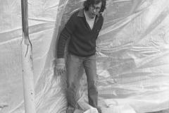 V. Biffani Christo The Wall, wrapped Roman Wall via Veneto & villa Borghese, Rome 28 gennaio 1974-92c