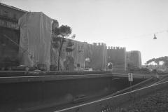 V. Biffani Christo The Wall, wrapped Roman Wall via Veneto & villa Borghese, Rome 29 gennaio 1974-100