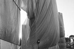 V. Biffani Christo The Wall, wrapped Roman Wall via Veneto & villa Borghese, Rome 29 gennaio 1974-103