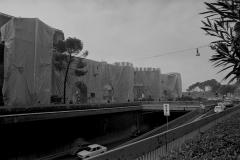 V. Biffani Christo The Wall, wrapped Roman Wall via Veneto & villa Borghese, Rome 29 gennaio 1974-105