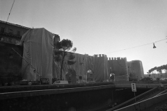 V. Biffani Christo The Wall, wrapped Roman Wall via Veneto & villa Borghese, Rome 29 gennaio 1974-105bjpg