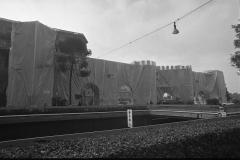 V. Biffani Christo The Wall, wrapped Roman Wall via Veneto & villa Borghese, Rome 29 gennaio 1974-108