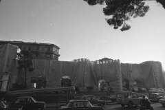V. Biffani Christo The Wall, wrapped Roman Wall via Veneto & villa Borghese, Rome 29 gennaio 1974-96