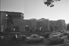V. Biffani Christo The Wall, wrapped Roman Wall via Veneto & villa Borghese, Rome 29 gennaio 1974-96a