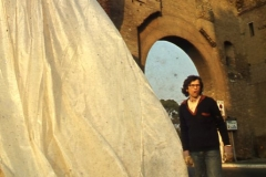 Vittorio Biffani Christo The Wall, wrapped Roman Wall via Veneto & villa Borghese, Rome 26 gennaio 1974-14
