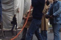 Vittorio Biffani Christo The Wall, wrapped Roman Wall via Veneto & villa Borghese, Rome 26 gennaio 1974-18a
