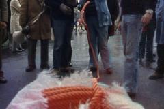 Vittorio Biffani Christo The Wall, wrapped Roman Wall via Veneto & villa Borghese, Rome 26 gennaio 1974-22