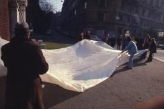 Vittorio Biffani Christo The Wall, wrapped Roman Wall via Veneto & villa Borghese, Rome 26 gennaio 1974-25