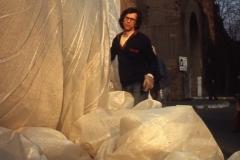 Vittorio Biffani Christo The Wall, wrapped Roman Wall via Veneto & villa Borghese, Rome 26 gennaio 1974-27