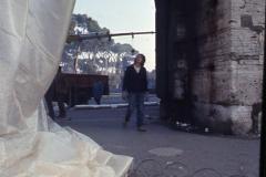 Vittorio Biffani Christo The Wall, wrapped Roman Wall via Veneto & villa Borghese, Rome 26 gennaio 1974-31