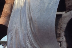 Vittorio Biffani Christo The Wall, wrapped Roman Wall via Veneto & villa Borghese, Rome 26 gennaio 1974-37