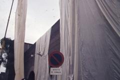 Vittorio Biffani Christo The Wall, wrapped Roman Wall via Veneto & villa Borghese, Rome 26 gennaio 1974-48