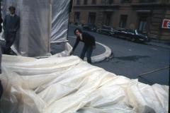 Vittorio Biffani Christo The Wall, wrapped Roman Wall via Veneto & villa Borghese, Rome 26 gennaio 1974-51