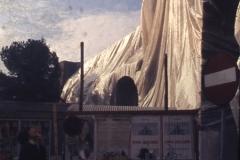 Vittorio Biffani Christo The Wall, wrapped Roman Wall via Veneto & villa Borghese, Rome 26 gennaio 1974-54