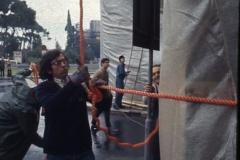 Vittorio Biffani Christo The Wall, wrapped Roman Wall via Veneto & villa Borghese, Rome 26 gennaio 1974-57