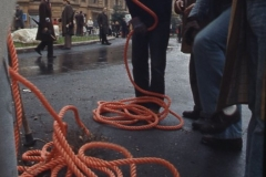Vittorio Biffani Christo The Wall, wrapped Roman Wall via Veneto & villa Borghese, Rome 26 gennaio 1974-59