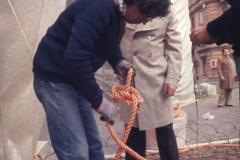 Vittorio Biffani Christo The Wall, wrapped Roman Wall via Veneto & villa Borghese, Rome 26 gennaio 1974-73