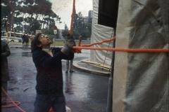 Vittorio Biffani Christo The Wall, wrapped Roman Wall via Veneto & villa Borghese, Rome 26 gennaio 1974-79